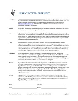 Participantion Agreement 1.4
